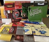 Lot of 18 Cardboard Six Pack Beer Carriers Cartons - Craft Beer 4 & 6 Pack Used