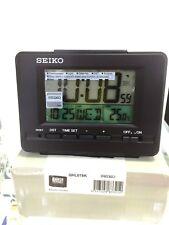 Seiko Desk Digital Alarm Clock backlight LCD Black QHL078K calendar thermometer