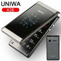 "Unlocked UNIWA 2.8"" Folding Flip Dual Sim Free Basic Simple Mobile Phone FM SOS"