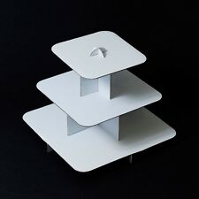"""12"""" Square 3-Tier Cupcake Stand tree party deco cake dessert wedding baby shower"""