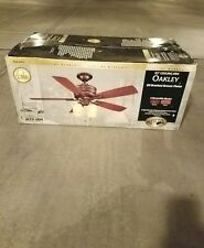 """* Hampton Bay AC413A-OBB Oakley 52"""" Oil-Brushed Bronze Ceiling Fan w/ Light Kit"""