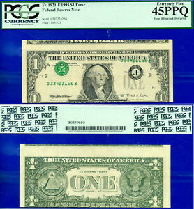 Error Note - 1995 $1 FRN (( Inverted Overprint Error )) PCGS 45PPQ # F35777422G-