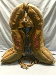 """Vintage Daignault Rolland DR LGD Leather GOALIE LEG PADS  33""""  Canada - Issues"""