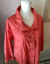 Cute Lightweight Spring Jacket Size 3X  Pink Peach Maurices NWT