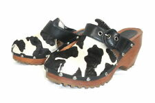 "London Underground ""Dice"" Buckle Clog Leather Black/White Cow Brazil 10 (EU 41)"