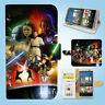 HTC One M7 M8 M9 Print Flip Wallet Case Cover Star Wars W047