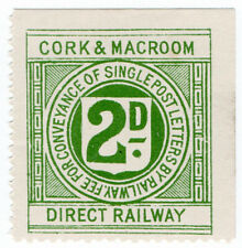 (I.B) Cork & Macroom Direct Railway : Letter Stamp 2d