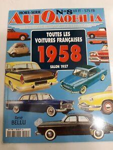 AUTOMOBILIA  HORS SERIE   N°8  -  TOUTES LES VOITURES FRANCAISES - 1958 -