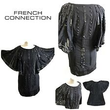 FRENCH CONNECTION 10 12 Heavily Beaded. GATSBY Dress  1920's Flapper / Art Deco