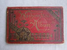 Rare Old Book Washington Album Late 1800's Washington Pictures FC
