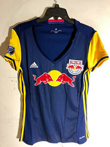 Adidas Women's MLS Jersey New York Red Bulls Team BLUE sz M