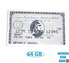 ✹ Novelty American Express Silver ✹ Credit Card Design ✹ USB Flash Drive 64GB ✹