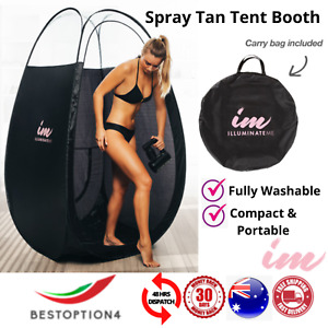 Portable Large Black Pop Up Spray Tan Tent Minetan Tanning Mobile Washable Booth