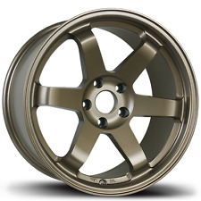 AVID.1 AV-06 17X8 4X100 +35 OFFSET bronze TE37 6 SPOKES TUNER WHEELS SET