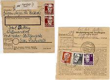 1952, Paketkartenstammteil mit zweimal 84 Pfg. Köpfe I (Michel-Nr. 227 b)