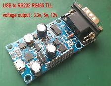USB to RS232 RS485 TLL Serial output signal 3.3v, 5v, 12v Debug Board CP2102