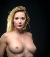 0306 SEMI NUDE female Blond Breast model FINE ART PHOTOGRAPH print