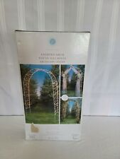 Victoria Lynn Lighted Decorative Arch 8' WHITE 200 Net Lights Indoor/Outdoor Use