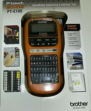 Brother P Touch Edge Pt E105 Portable Handheld Industrial Label Maker With Labels