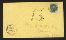 Canada 6d Sc.5 slate grey, XF copy on 1855 cover