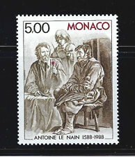 MONACO #1646 MNH VF OG Antoine le Nain Brothers Painting 300th Anniv 1988