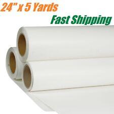 "24"" x 5 Yards Roll PU Heat Transfer Vinyl T-shirt HTV Iron on White Printable"