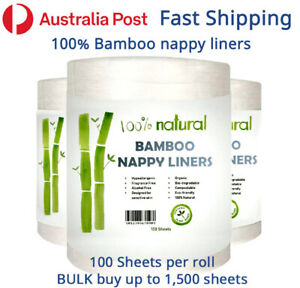 100% BAMBOO Nappy Liners for Modern Cloth Nappies MCN liner ECO Friendly Baby