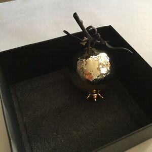 Michael Aram Pomegranate Shaped Hanging Ornament Gold.