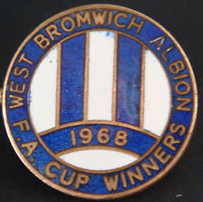 WEST BROMWICH ALBION FC Vintage 1968 FA CUP WINNERS Badge Brooch pin 22mm Dia