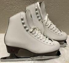 New listing Riedell Figure Ice Skates White 4 1/2 Med Women Model 121