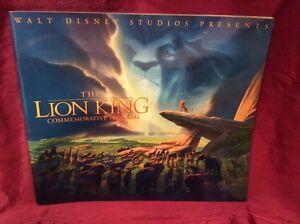 "Disney ""Lion King"" original movie-premiere program (Sericel art insert)"