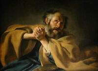 """perfect 36x24 oil painting handpainted on canvas """"st. peter's repentance""""@N12800"""