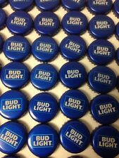 "LOT OF 100 BUD LIGHT BEER BOTTLE CAPS  NO DENTS ""NEW STYLE"""