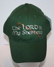NWT Eagle Crest Extreme Embroidery Green The Lord Is My Shepherd Baseball Hat