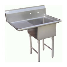 "1 Compartment Sink with 1 Left 24"" Drain Board Nsf"