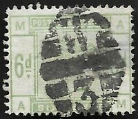 1884 QV SG194 6d Dull Green AM Fine Used CV £240