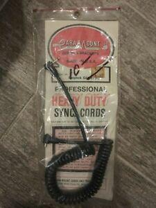 Vintage Paramount Professional Heavy Duty Sync. Cords