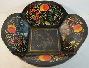 Toleware (painted on tin) American 19th Century Bowl