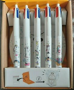 1x BIC 4-Colour Cute UNICORN Characters Ballpoint Pen - Limited EDITION!