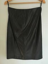 BNWT Ralph Lauren Black Lambskin Leather Pencil Skirt - US 4 / UK 8