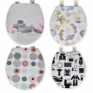 "New 17"" Padded Toilet Seat Novelty Design Strong Printed Soft Padded Easy Clean"