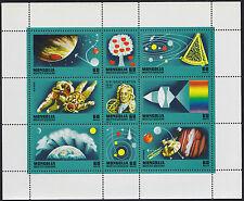 Bloc MONGOLIE N°880/886** BF Espace Isaac Newton 1977 MONGOLIA Space Sheet MNH