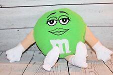 """M&M Green Plush 12"""" Girl Eyelashes M&M Candy"""