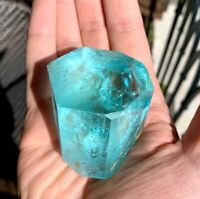 Aquamarine Gem Grade Natural Crystal 192 Grams, Shigar Valley, With Video