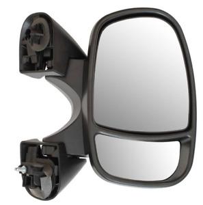 NISSAN Primastar 2002-2014 PORTA Specchietto retrovisore esterno manuale nero lato guidatore NUOVO