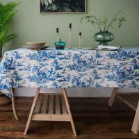 Retro Cotton Linen Tablecloth Rectangle Square Dinner Table Cloth Covers Decor
