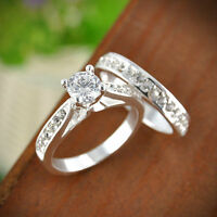 1 Pair Forever Love Ring Men Women Promise Couple Wedding Band Rings Jewelry