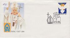 (AUQ179) 1986 AU FDC 36c papal visit