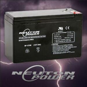 Neuton Power 12V 7Ah SLA AGM Battery for Security Alarm Eaton ToyCar Scooter NES