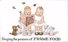 Advertising. Frame-Food, Battersea, London. Singing the Praises of Frame Food.